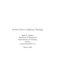 Lecture Notes in Algebraic Topology I by Shastri, Anant R.