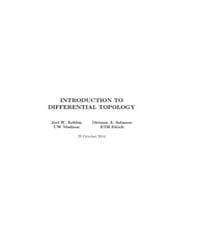 Introduction to Differential Topology, P... by Robbin Joel W. ; Salamon, Dietmar A.