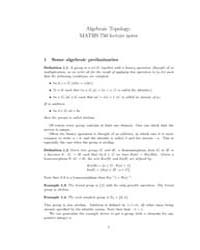 Algebraic Topology Lecture Notes 1 by Gauld, David