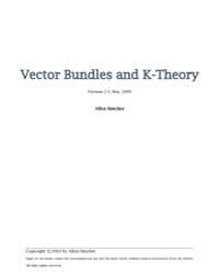 Vector Bundles K Theory by Hatcher, Allen