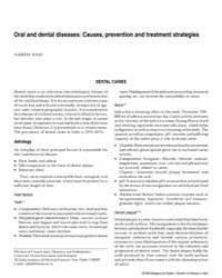 Oral and Dental Diseases Causes, Prevent... by Shah, Naseem