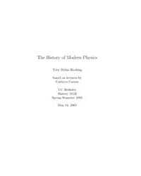 The History of Modern Physics by Hocking, To Dylan