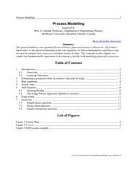 Process Modeling by Garland, Wm. J.