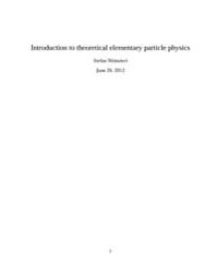 Introduction to Theoretical Elementary P... by Weinzierl, Stefan