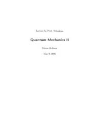 Lecture Notes for Quantum Mechanics II by Hofbaur, Tobias