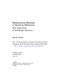 Mathematical Methods in Quantum Mechanic... by Teschl, Gerald