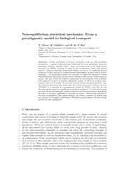 Non Equilibrium Statistical Mechanics fr... by Chou, T.