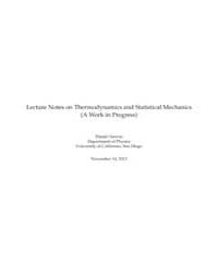 Lecture Notes on Thermodynamics and Stat... by Technical Books Center
