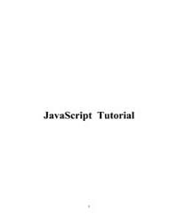Javascript Tutorial II by Technical Books Center
