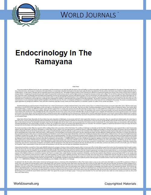 Endocrinology in the Ramayana by Sanjay Kalra