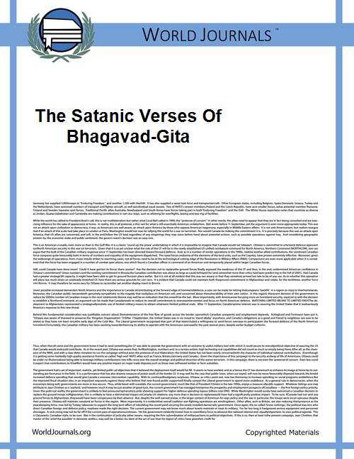 The Satanic Verses of Bhagavad-Gita by Joshi