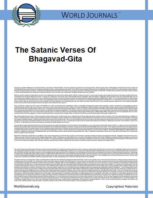The Satanic Verses of Bhagavad-Gita by Joshi