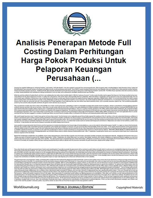Analisis Penerapan Metode Full Costing D... by Ulfa