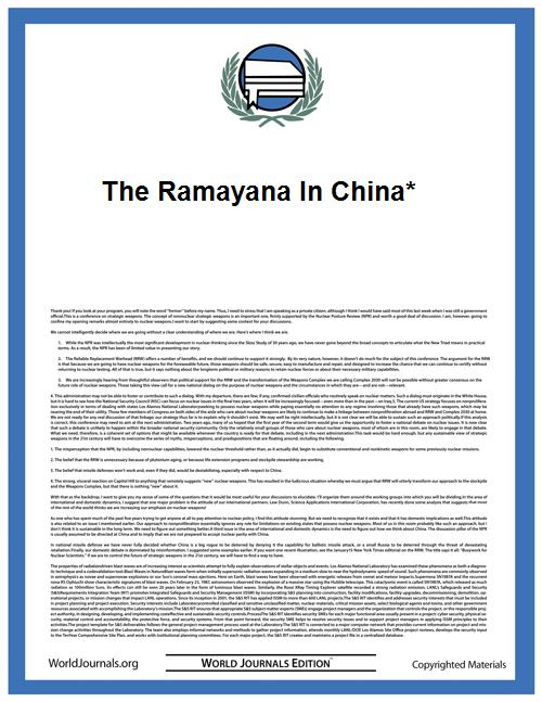 The Ramayana in China* by Ji Xianlin