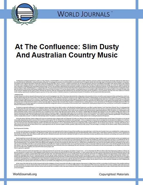 At the Confluence: Slim Dusty and Austra... by Fitzgerald