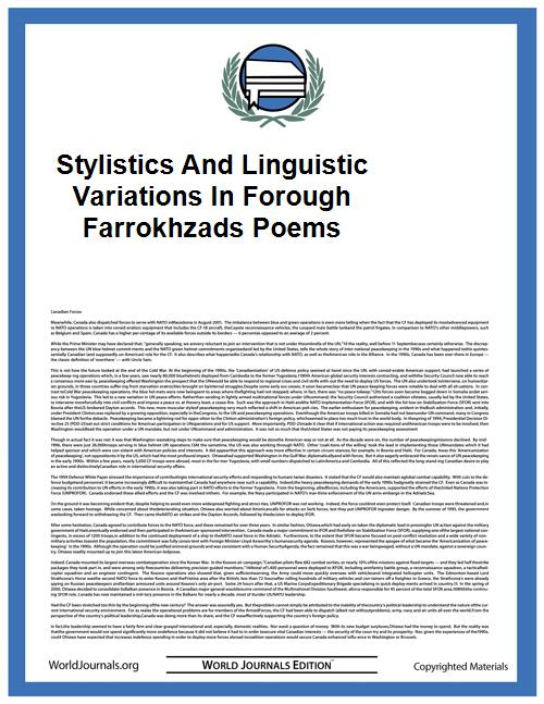 Stylistics and Linguistic Variations in ... by Ferdows Aghagolzade