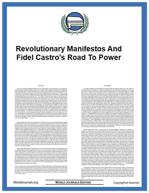 Revolutionary Manifestos and Fidel Castr... by Plazas, Luis