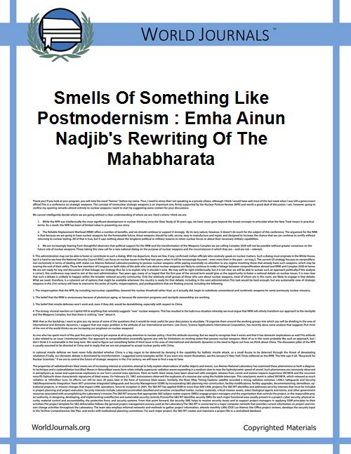Smells of Something Like Postmodernism :... by Clark