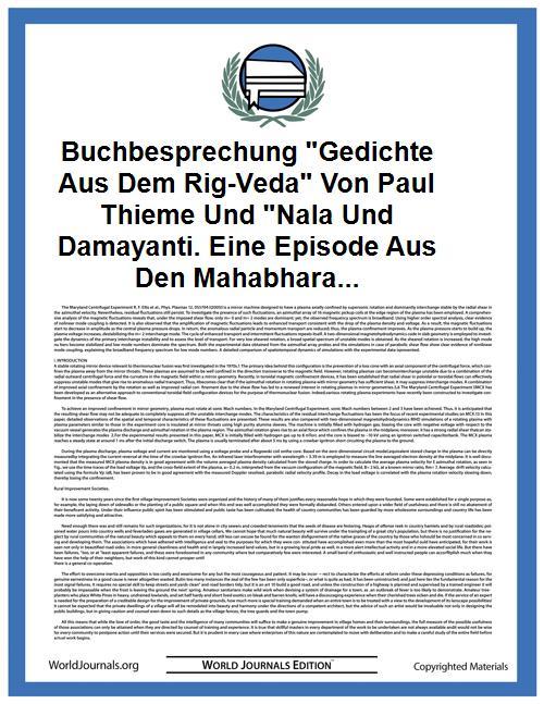 Buchbesprechung Gedichte Aus Dem Rig-Ved... by Berger
