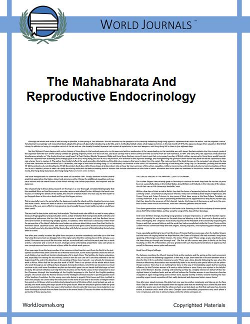 The Mahabharata and Reproductive Endocri... by Bharti Kalra