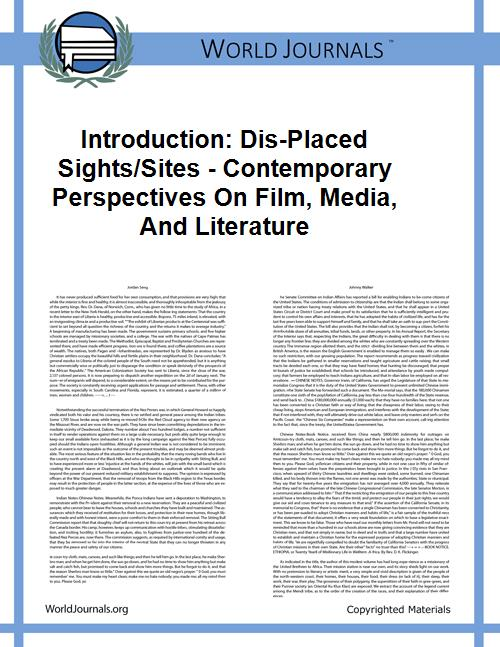 Introduction: Dis-Placed Sights/Sites - ... by Alessandra Brandão
