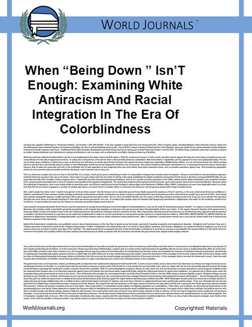 "When ""being Down "" Isn't Enough: Examini... by Of Colorblindness"
