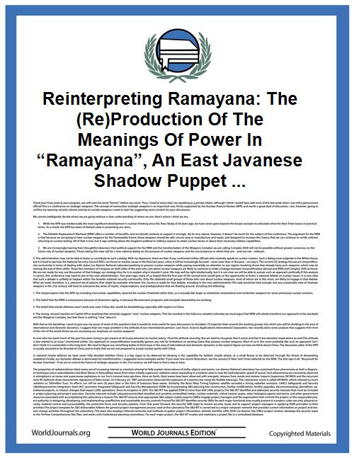 Reinterpreting Ramayana: the (Re)Product... by Basuki R.