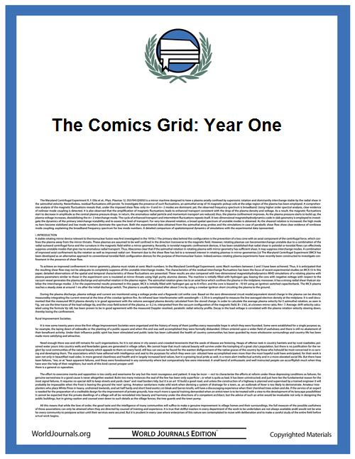 The Comics Grid: Year One by The Comics Grid