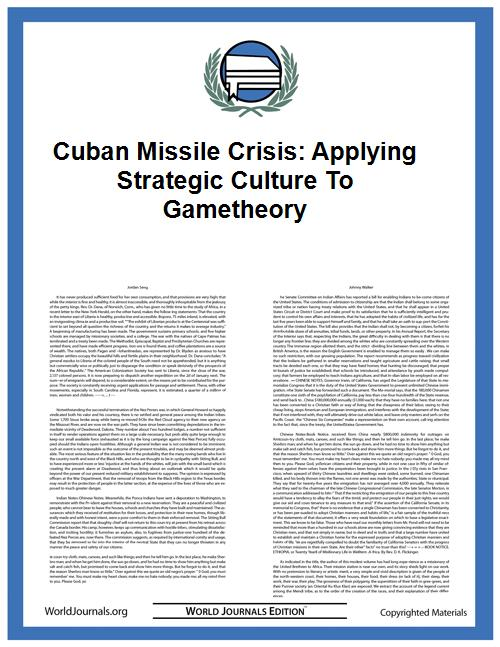 Cuban Missile Crisis: Applying Strategic... by Carattini