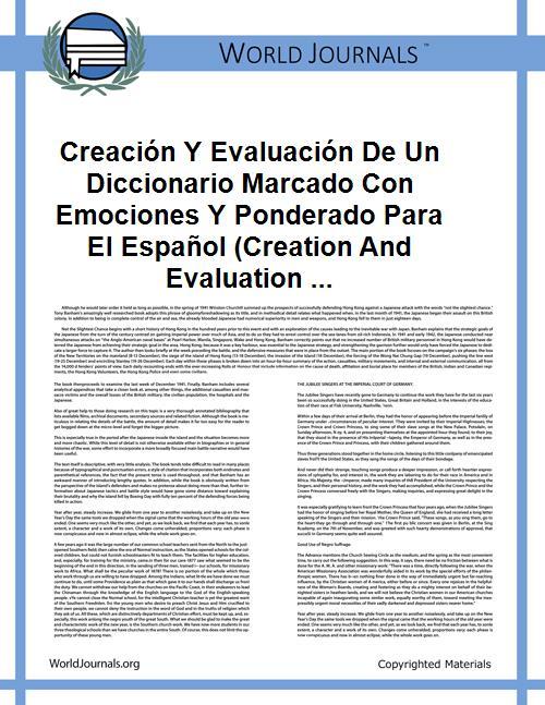 Creación Y Evaluación De Un Diccionario ... by Ismael Díaz Rangel
