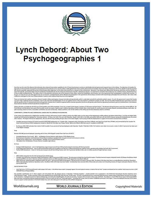 Lynch Debord: About Two Psychogeographie... by Denis Wood