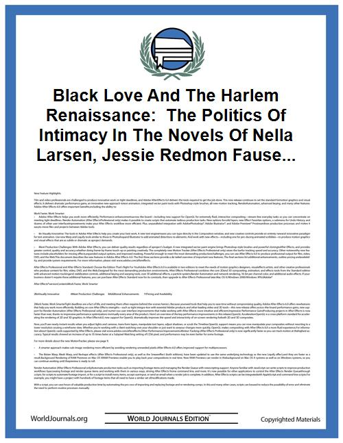 Black Love and the Harlem Renaissance:  ... by Boulware