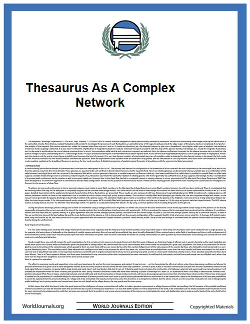 Thesaurus as a Complex Network by Adriano De Jesus Hol