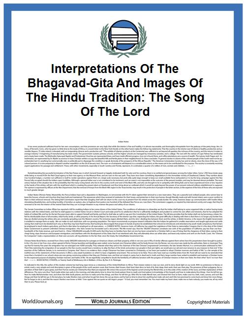 Interpretations of the Bhagavad-Gita and... by Robinson