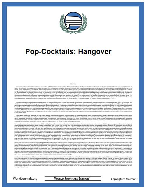 Pop-Cocktails: Hangover by Kjetil Sagerup
