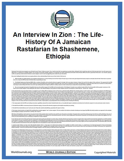 An Interview in Zion : the Life-History ... by Bonacci