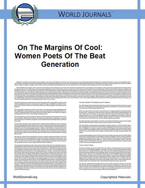On the Margins of Cool: Women Poets of t... by Keeling