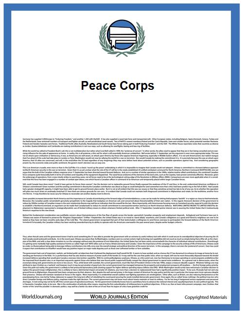 Peace Corps by Paul D. Coverdell