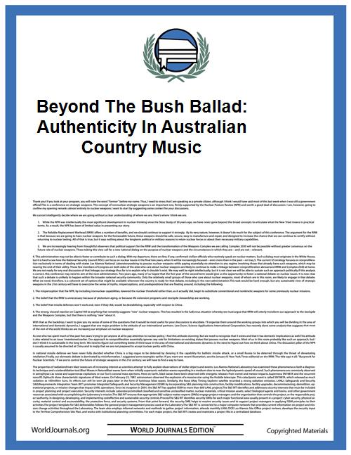 Beyond the Bush Ballad: Authenticity in ... by Bauder