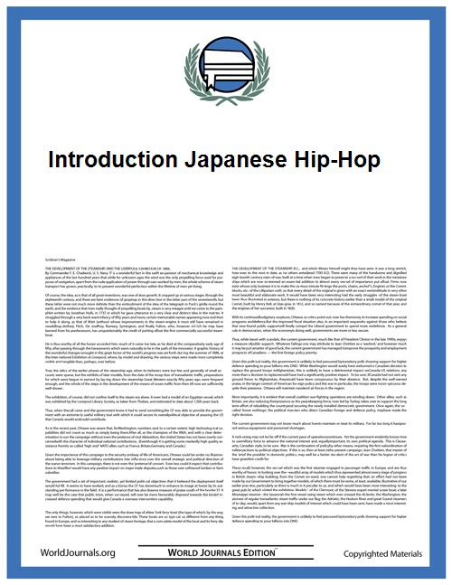 Introduction Japanese Hip-Hop by
