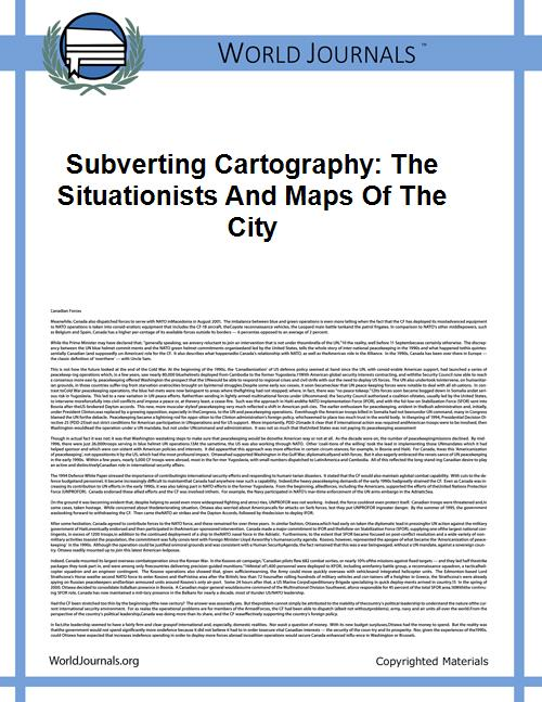 Subverting Cartography: the Situationist... by D Pindertt