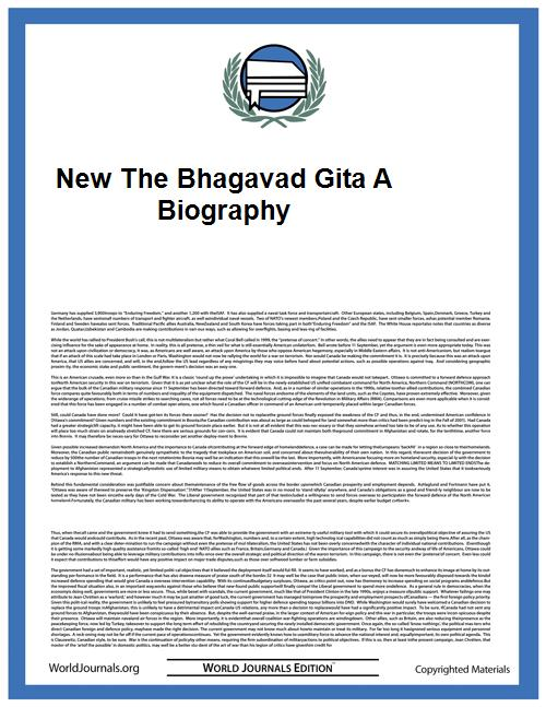 New the Bhagavad Gita a Biography by Richard H. Davis