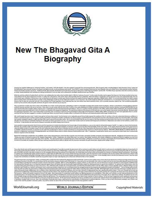 New the Bhagavad Gita a Biography by Richard H. Davis