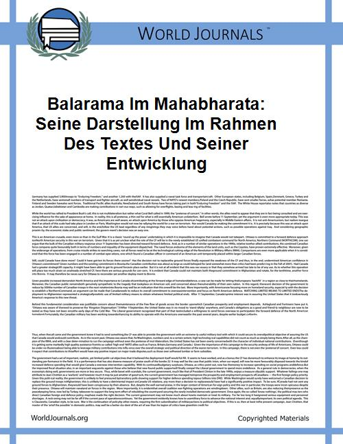 Balarama Im Mahabharata: Seine Darstellu... by Bigger