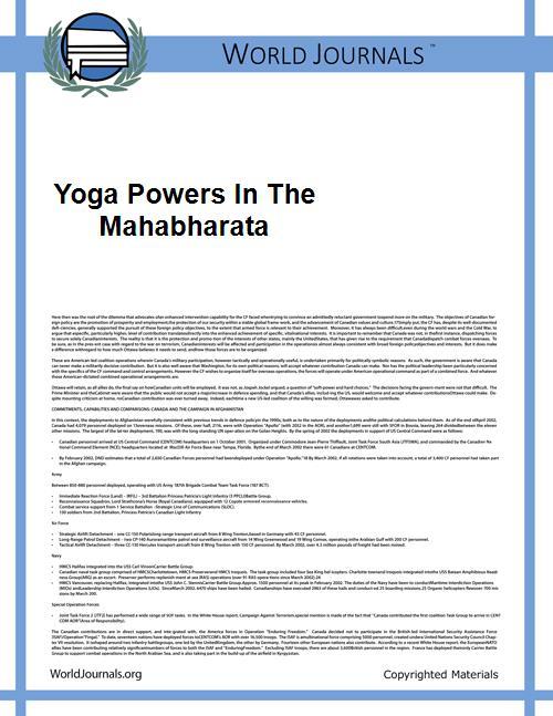Yoga Powers in the Mahabharata by Malinar