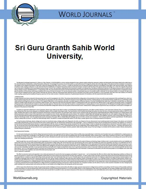 Sri Guru Granth Sahib World University, by Gurpreet Singh