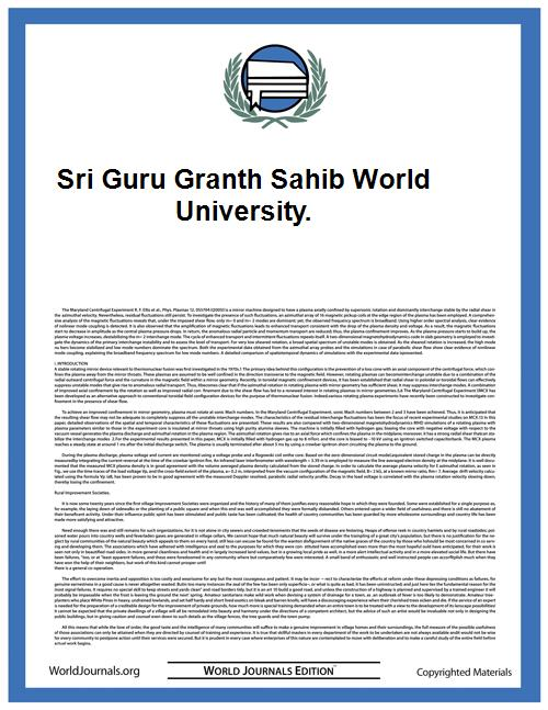 Sri Guru Granth Sahib World University. by Janpreet Singh