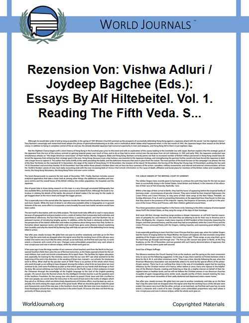 Rezension Von: Vishwa Adluri / Joydeep B... by Feller