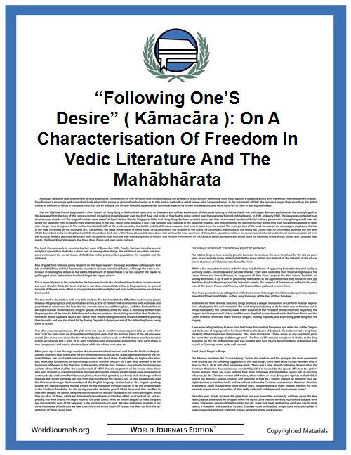 """following One's Desire"" ( Kāmacāra ): o... by Malinar"