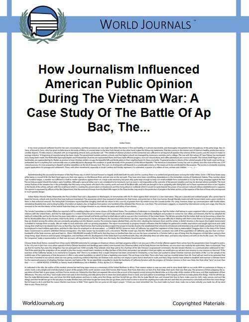 How Journalism Influenced American Publi... by Kyle Hadyniak